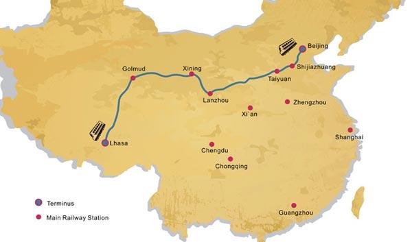 Beijing Lhasa Train Route